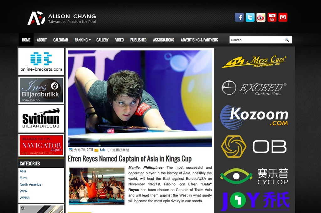 The Best Foreign Billiard Blogs